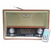 Mega Nostaljik Antika Bluetooth Şarjlı Büyük Radyo Müzik Çalar Us