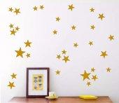 Decolight Gold Sarı Yıldız Yağmuru Stiçker