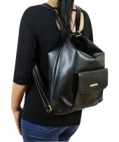Siyah Rengi Kol Ve Sırt Çift Kullanımlı Kadın Çantası