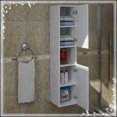 Dekoratif Çok Amaçlı Banyo Dolabı Beyaz Renk
