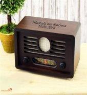Kişiye Özel Nostaljik Ahşap Radyo Kahverengi
