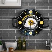 Kişiye Özel Ahşap Mutfak Duvar Saati 3