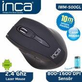 ınca Iwm 500gl 2.4 Ghz 1600 Dpı Laser Wıreless Nano Alıcılı Mouse Siyah
