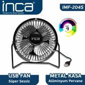 ınca Imf 204s Masaüstü Metal Fan + Alüminyum Pervane Siyah 4