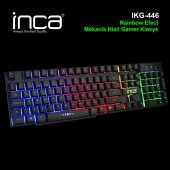 ınca Ikg 446 Rainbow Efect Mekanik Hisli Gamer Klavye