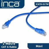 ıcat6 01tm Inca Cat6 1 Metre Mavi