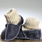 Prado Kuzu Derisi Bebek Patik, Panduf Lacivert