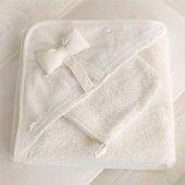 Funna Baby Premium Baby Beyaz Havlu 90x90 Cm