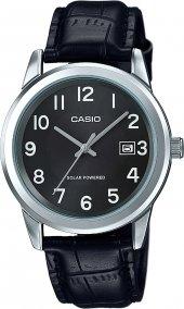Casio Mtp Vs01l 1b1df Güneş Enerjili Takvimli Klasik Erkek Saat