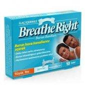 Breathe Right Şeffaf Burun Bantları Büyük Boy Hassas Cilt 10 Adet