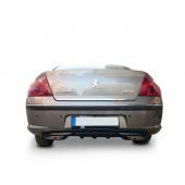 Peugeot 407 Egzoz Görünümlü Arka Tampon Eki Difüzör (Plastik)
