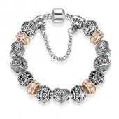 Frilly Tibet Gümüş Alaşım Charm Bileklik (Fkb180s)