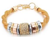 Frilly Charm Altın Kaplama Zincir Bileklik (Fkb161122)