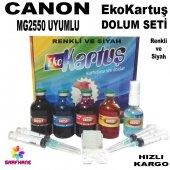 Canon Mg2450 Mg2455 Ekokartuş Dolum Seti Pg545 546 4x50ml