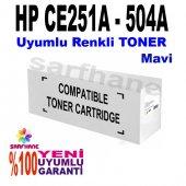 Hp Ce251a Uyumlu Mavi Toner Cp3525 Cm3530 (504a)