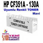 Hp Pro M176 M177 Mavi Muadil Toner Cf351a 130a
