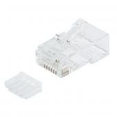 Logilink Mp0002a 100 Lü Cat6 Utp Konnektör, Modular Plug, Korumasız
