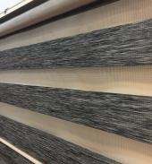 En Uygun Brillant Orjinal Zebra Perde Oregon Bambu Siyah Kalın Kumaş