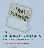 1071 İcemen Akrilik Fiyat Etiketliği 3 Farklı Boy