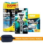 Gillette Mach3 Tıraş Paketi (Tıraş Makinesi + 12&#039 Li Tıraş Bıçağı + 2&#039 Li Tıraş Jeli)