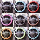 Araç Araba Renkli Direksiyon Silikon Kılıfı Kaydır...