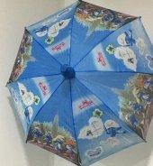 1 Adet Şirinler (Smurf) Kız,erkek Çocuk Şemsiye
