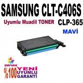Samsung C410 C460 Clp365 Mavi Muadil Toner C406s