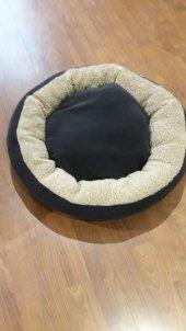 Bedspet Simit Kedi Köpek Yatağı Antrasit Deve Tüyü