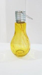 Dekoratif Ampul Şeklinde Sarı Renkli Süsleme Lambası