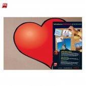 Drktal6 Yapışkanlı Pano Kalp Şeklinde