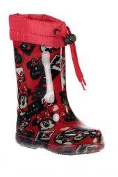 Hakan Çanta Minnie Mouse Su Geçirmez Kırmızı Yağmur Çizmesi Bot