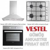 Vestel Gümüş Ankastre Set Ad 6001x+ao 6004 X+af 5651x