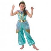 Prenses Jasmine Çocuk Kostüm 5 6 Yaş Glitter