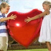 1 Adet Büyük Kırmızı Folyo Kalp Balon 80 Cm Helyumla Uçan Evlilik