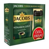 Jacobs Monarch Gold Çözünebilir Kahve 200 Gr (Termos Hediye)