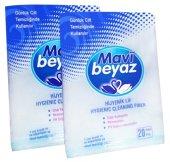 Mavi Beyaz Hasta Silme Süngeri Vücut Temizleme Lifi 80 Adet