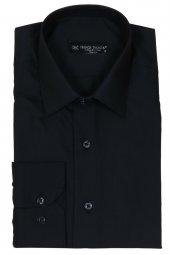 Erkek Gömlek Siyah Slim Fit Uzun Kollu Rar00176