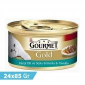 Gourmet Royal Gold Tavuk Somonlu Kedi Konserve Mama 24x85 Gr