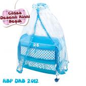 Happy Baby Class Desenli Ninni Beşik (Mavi)