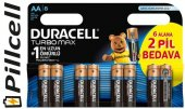 Duracell Turbo Max Alkaline 6+2 Aa Kalem Pil
