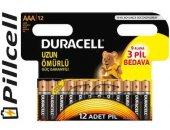 Duracell Alkaline (9+3) Aaa İnce Pil 12 Li Ekomik Paket