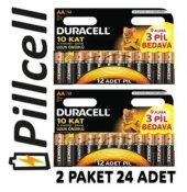 Duracell Alkaline 9+3 Aa Kalem Pil Ekonomik Paket * 2 Adet