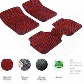 Daewoo Korando Dekor Kırmızı Oto Paspas Şık Tasarım 5 Parça