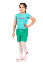 Ottomama Basic Renkli Kız Çoçuk Şort Yeşil Renk