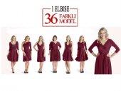 Sheland Tek Elbise 36 Farklı Model Bordo