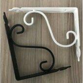 Siyah Beyaz Raf Altı Aparatı L Konsol 12 Cm X 15 Cm Perforje Duvar Askı Ev Dekor + Vida + Dübel