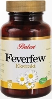 Balen Feverfew Ekstrakt (Düğme Çiçeği 80 Kapsül...