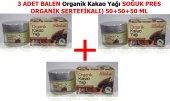 3 Adet Balen Organik Kakao Yağı Doğal,saf (Soğuk P...