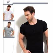 3lü Paket Erdem 1125 Fitilli Düğmeli Erkek T Shirt Fanila
