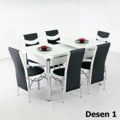 Gadahome Açılır Masa 6 Sandalye Takımı Özel Üretim